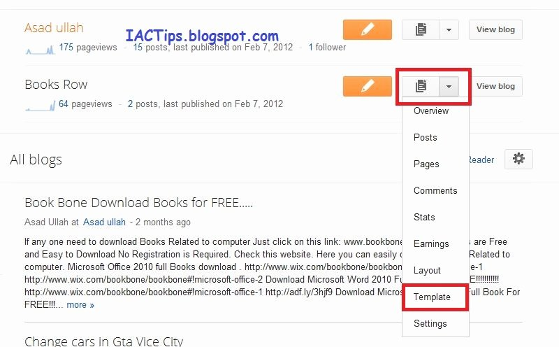 Drop Down Menu Template Unique Add About the Author Wid for Blogger Iac Tips