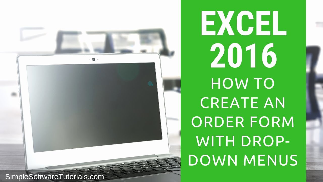 Drop Down Menu Template Unique Tutorial How to Create An order form with Drop Down Menus