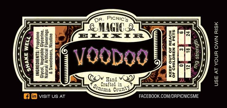 E Juice Label Template Awesome Dr Picnic S Magic Elixir