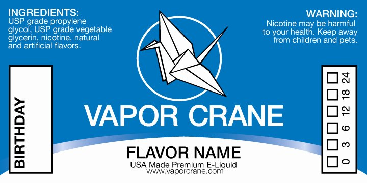 E Juice Label Template Fresh E Liquid Label Template