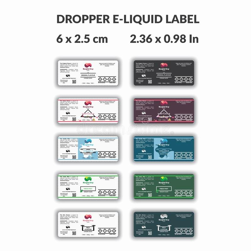 E Juice Label Template Inspirational Dropper E Liquid Bottle Label with Many Alternative Design