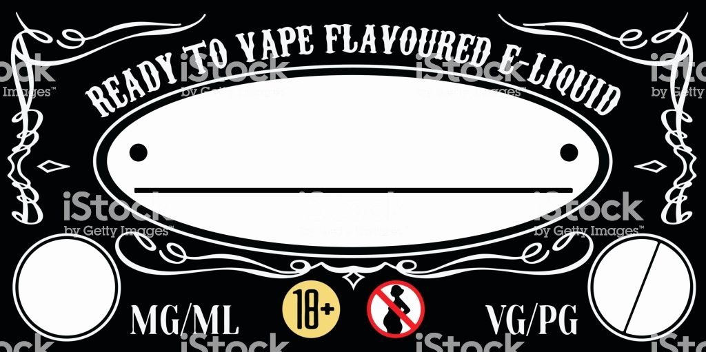 E Juice Label Template Luxury Vape Eliquid Ejuice Label Template Stock Vector Art & More