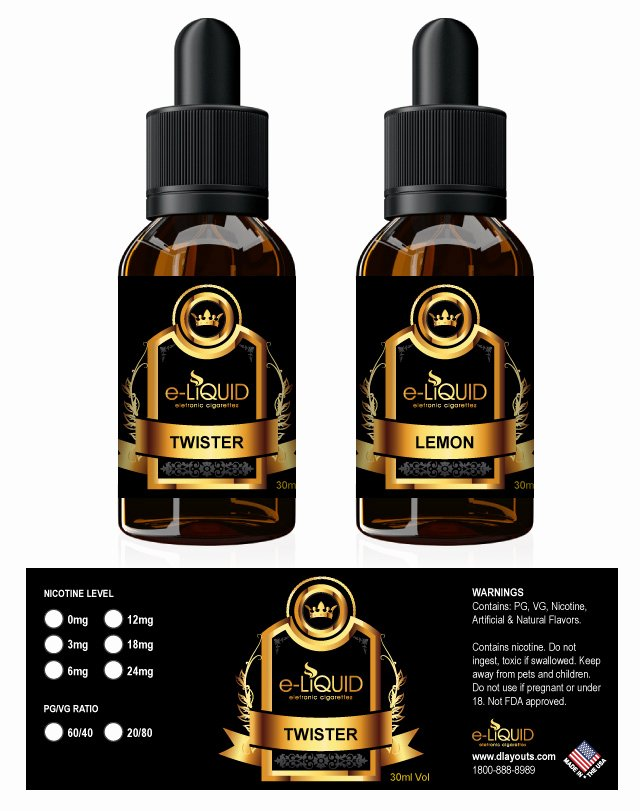 E Juice Label Template Unique E Liquid Label Template
