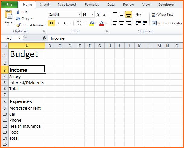 Easy Excel Budget Template Elegant Basic Excel Bud