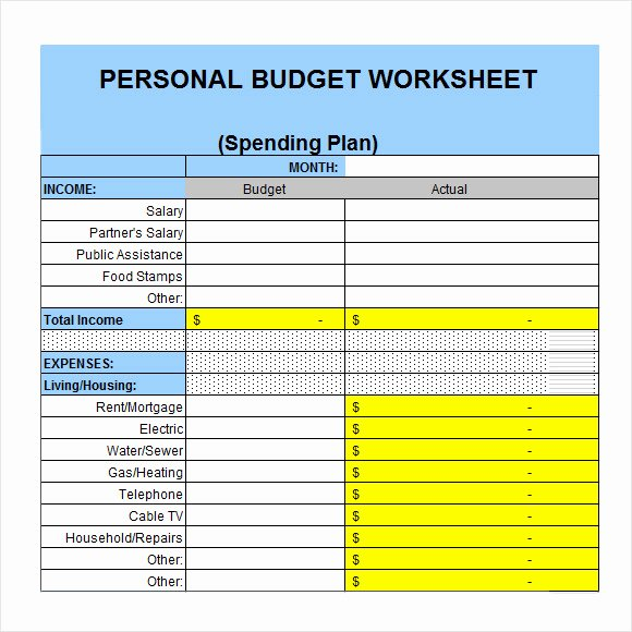 Easy Excel Budget Template Elegant Simple Personal Bud Template