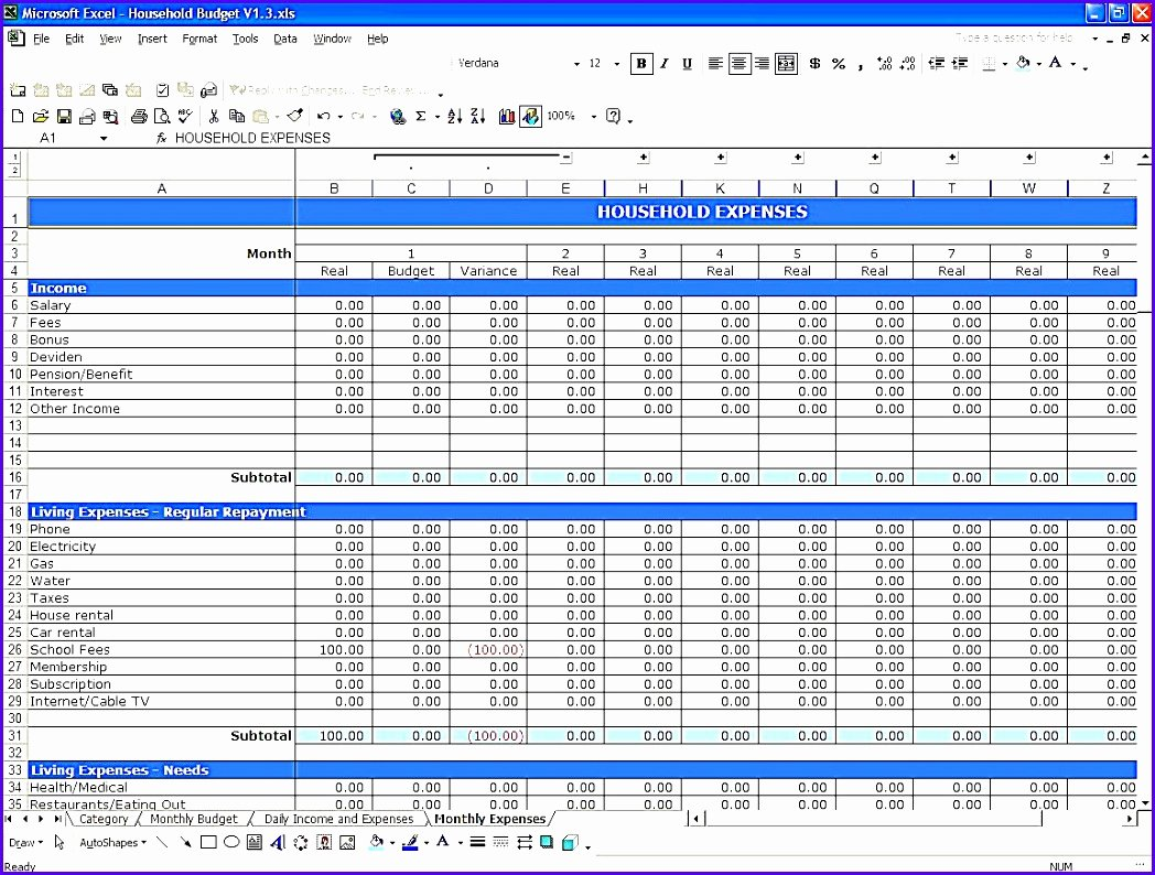 Easy Excel Budget Template Inspirational 10 Simple Bud Template Excel Exceltemplates