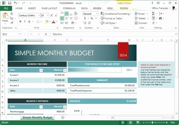 Easy Excel Budget Template Luxury Free Monthly Bud Template for Excel 2013