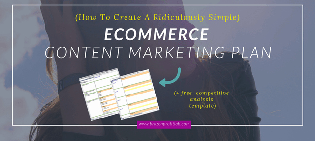 Ecommerce Marketing Plan Template Best Of Content Promotion Plan Free Petitive Analysis Template