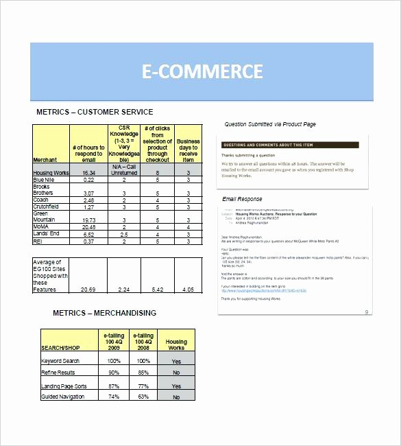 Ecommerce Marketing Plan Template Unique E Merce Marketing Plan E Merce Business Template
