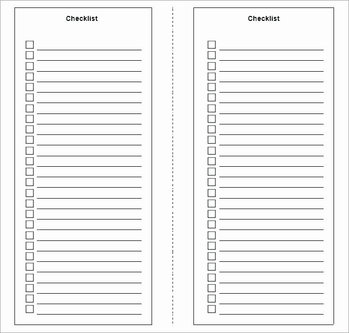 Editable Checklist Template Word Best Of What to Do List Template – Echotrailers