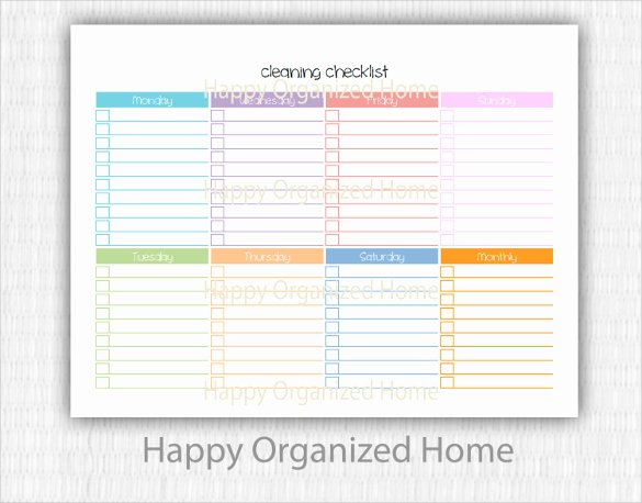 Editable Checklist Template Word Fresh Editable Cleaning Schedule Template