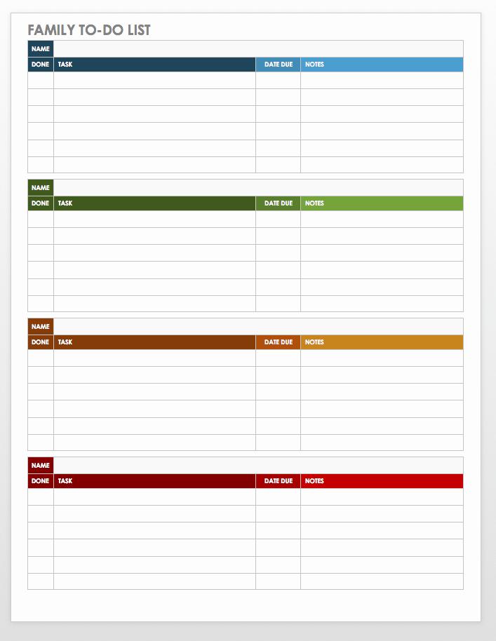 Editable Checklist Template Word Fresh Free Task and Checklist Templates