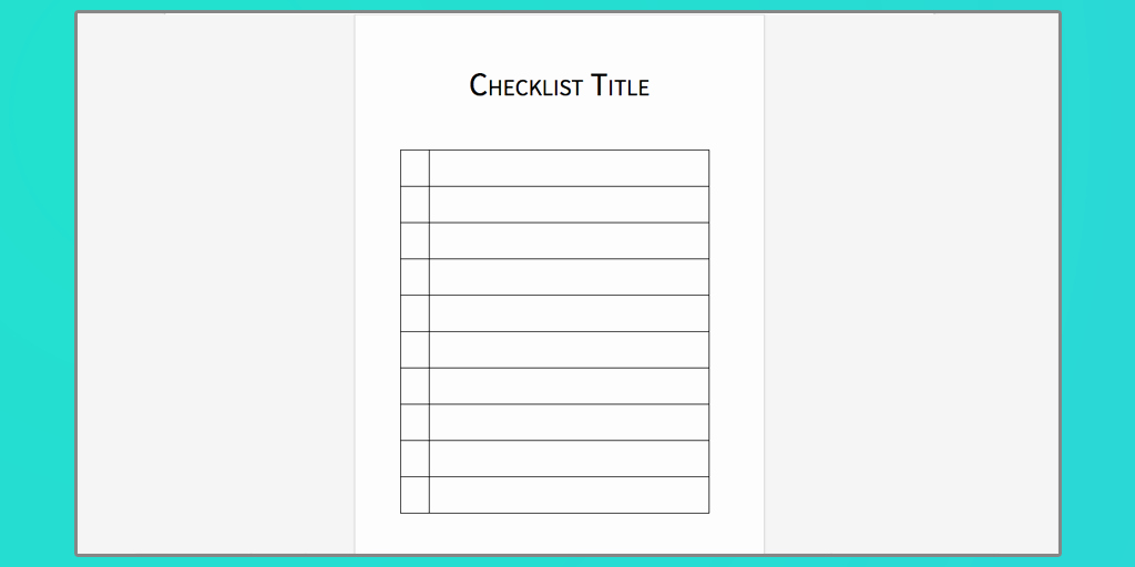 Editable Checklist Template Word Luxury Checklist Template Word