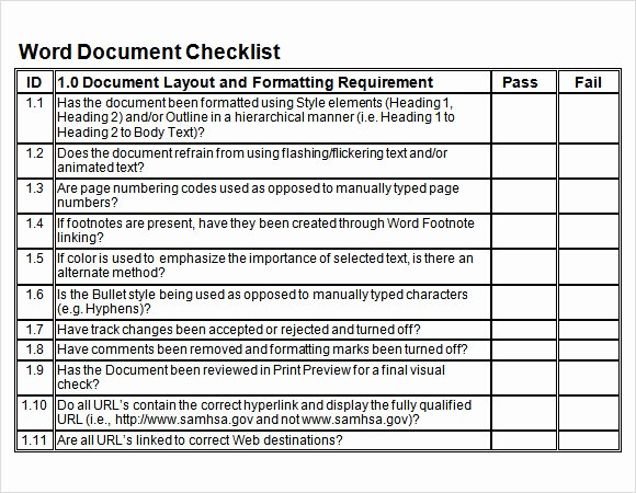Editable Checklist Template Word New Sample Blank Checklist Template 27 Documents Download