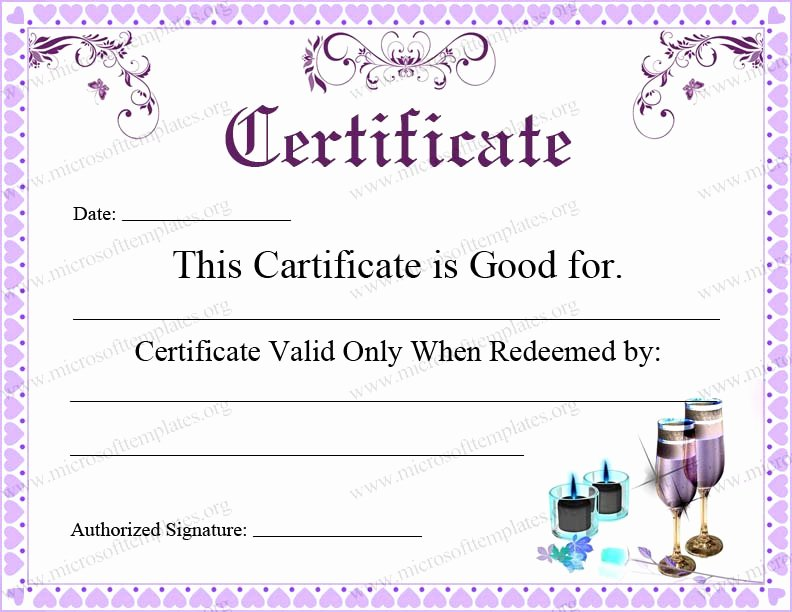 Editable Gift Certificate Template Awesome 5 Best Of Free Editable Printable Gift Certificates