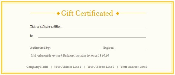 Editable Gift Certificate Template Awesome Download Free Gift Voucher Template