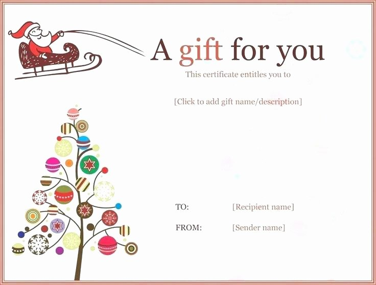 Editable Gift Certificate Template Awesome Editable Gift Certificate Template Voucher Word Free