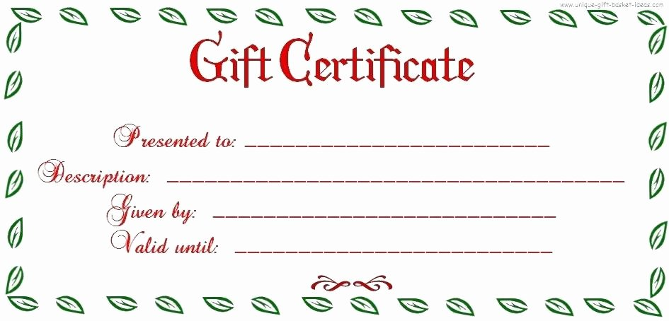 Editable Gift Certificate Template Awesome Editable Gift Certificate Template Word Free Printable and
