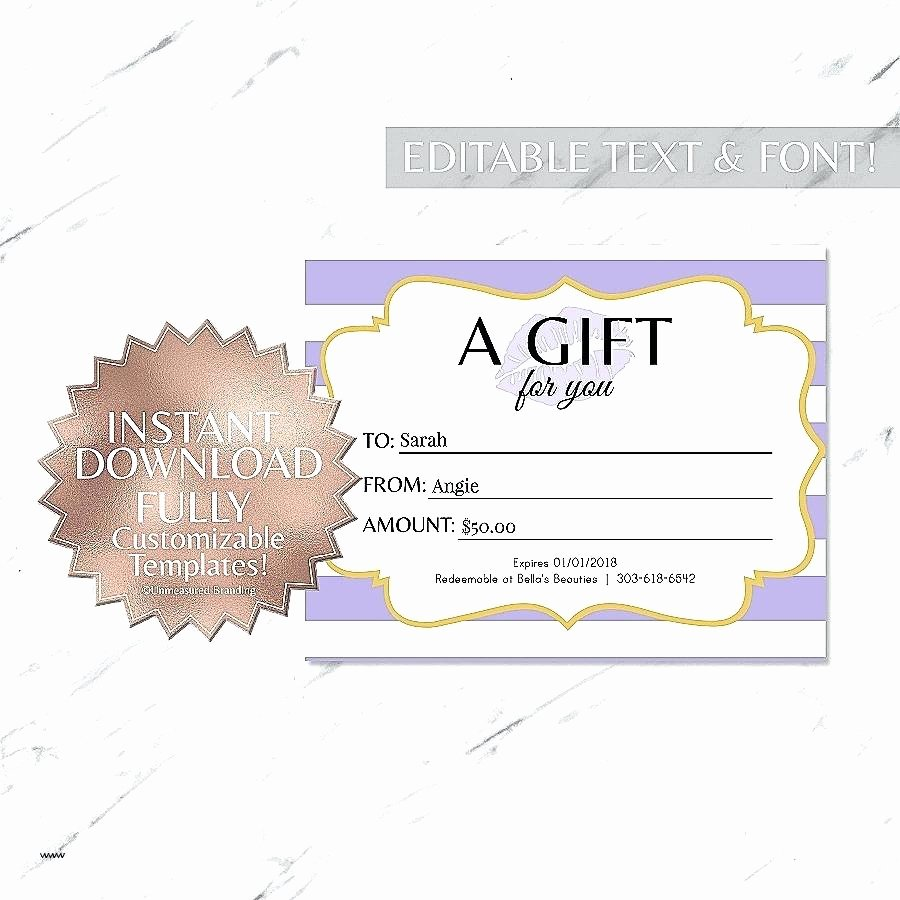 Editable Gift Certificate Template Awesome Template Editable Voucher Template