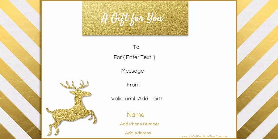 Editable Gift Certificate Template Beautiful Christmas Gift Certificate