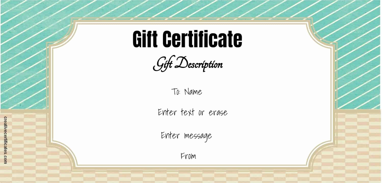 Editable Gift Certificate Template Best Of Free Gift Certificate Template 50 Designs
