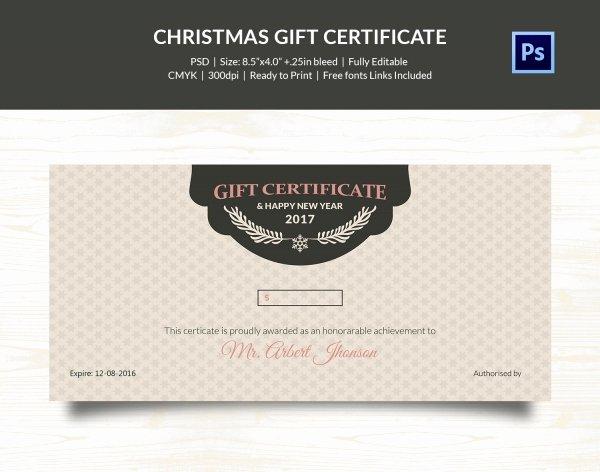 Editable Gift Certificate Template Elegant Christmas Gift Certificate Templates 21 Psd format