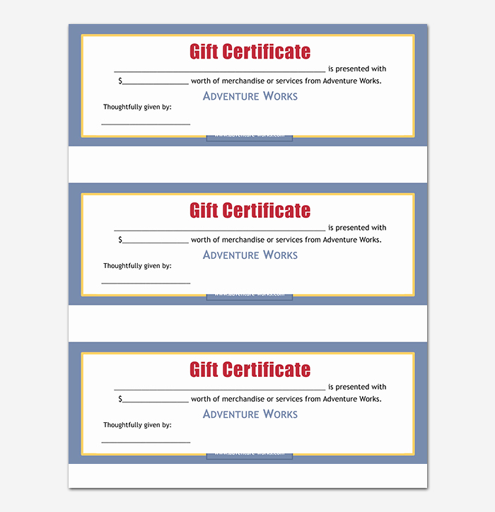 Editable Gift Certificate Template Fresh 44 Free Printable Gift Certificate Templates for Word & Pdf