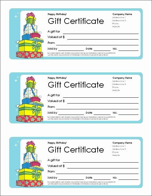 Editable Gift Certificate Template Fresh Birthday Gift Voucher Template Free Uk