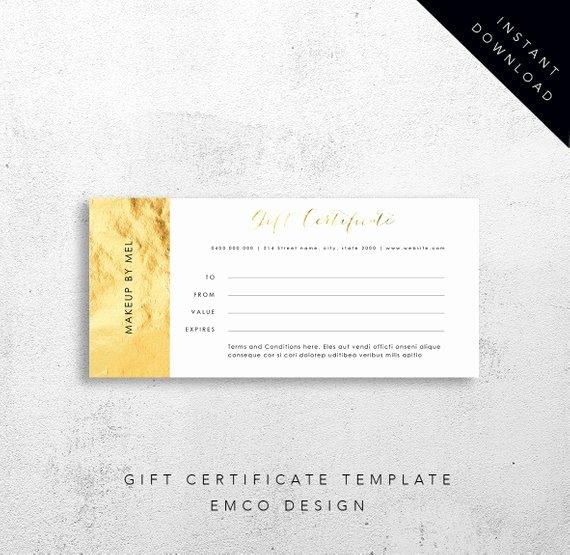 Editable Gift Certificate Template Lovely Gift Certificate Template Instant Download Editable Ms