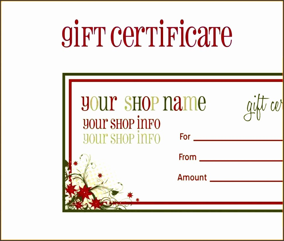 Editable Gift Certificate Template Luxury 5 Gift Voucher Template Editable Sampletemplatess