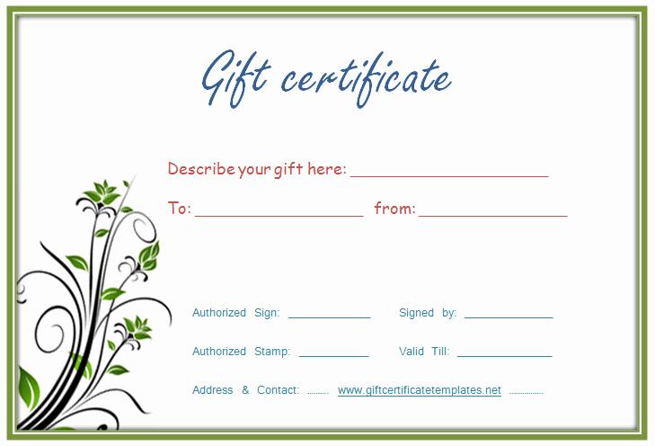 Editable Gift Certificate Template Luxury Certificate Templates