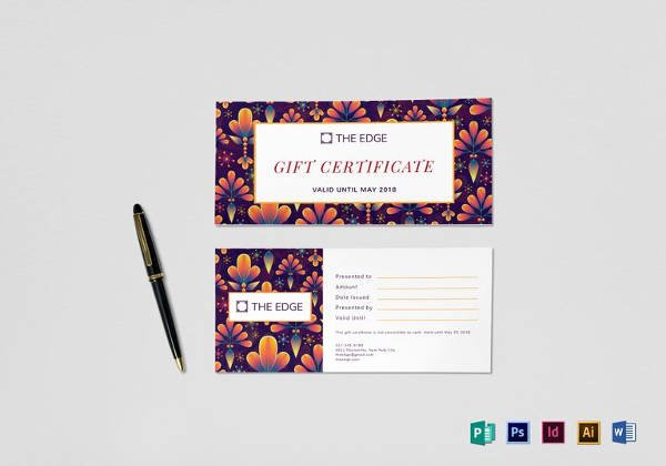Editable Gift Certificate Template New 20 Restaurant Gift Certificate Templates – Free Sample