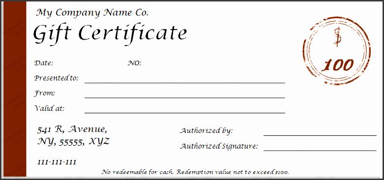 Editable Gift Certificate Template Unique Editable Gift Certificate Template Free Gift Ftempo