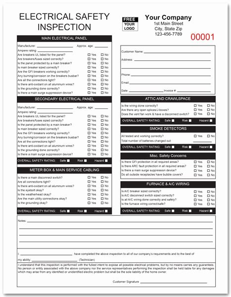 Electrical Inspection Report Template Fresh Electrical Invoice form 798 2 Part Of 3 Part