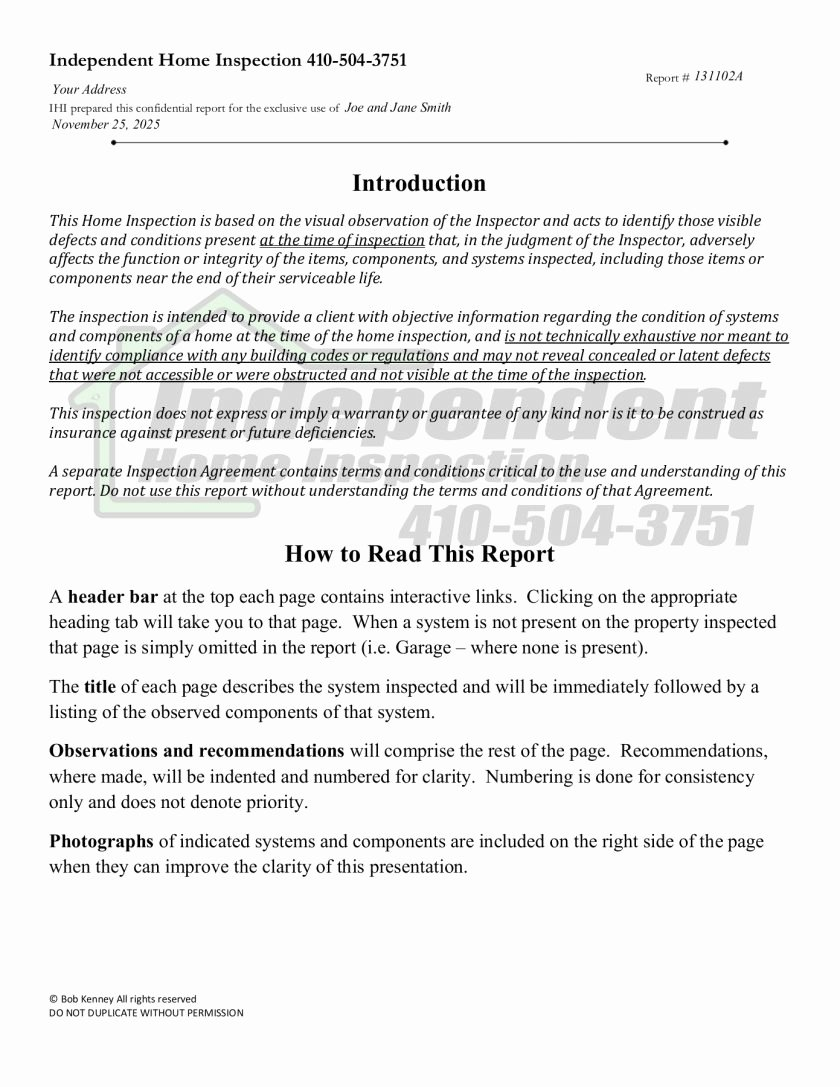 Electrical Inspection Report Template Unique Sample Home Inspection Report