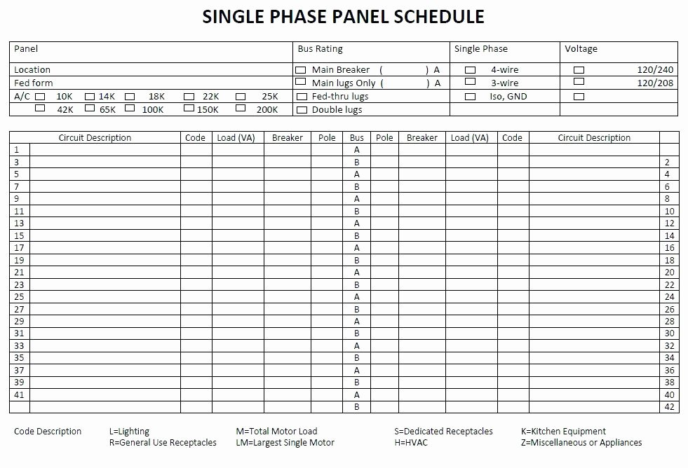 Electrical Panel Schedule Template Excel Awesome Electrical Panel Circuit Directory Template Awesome Lovely