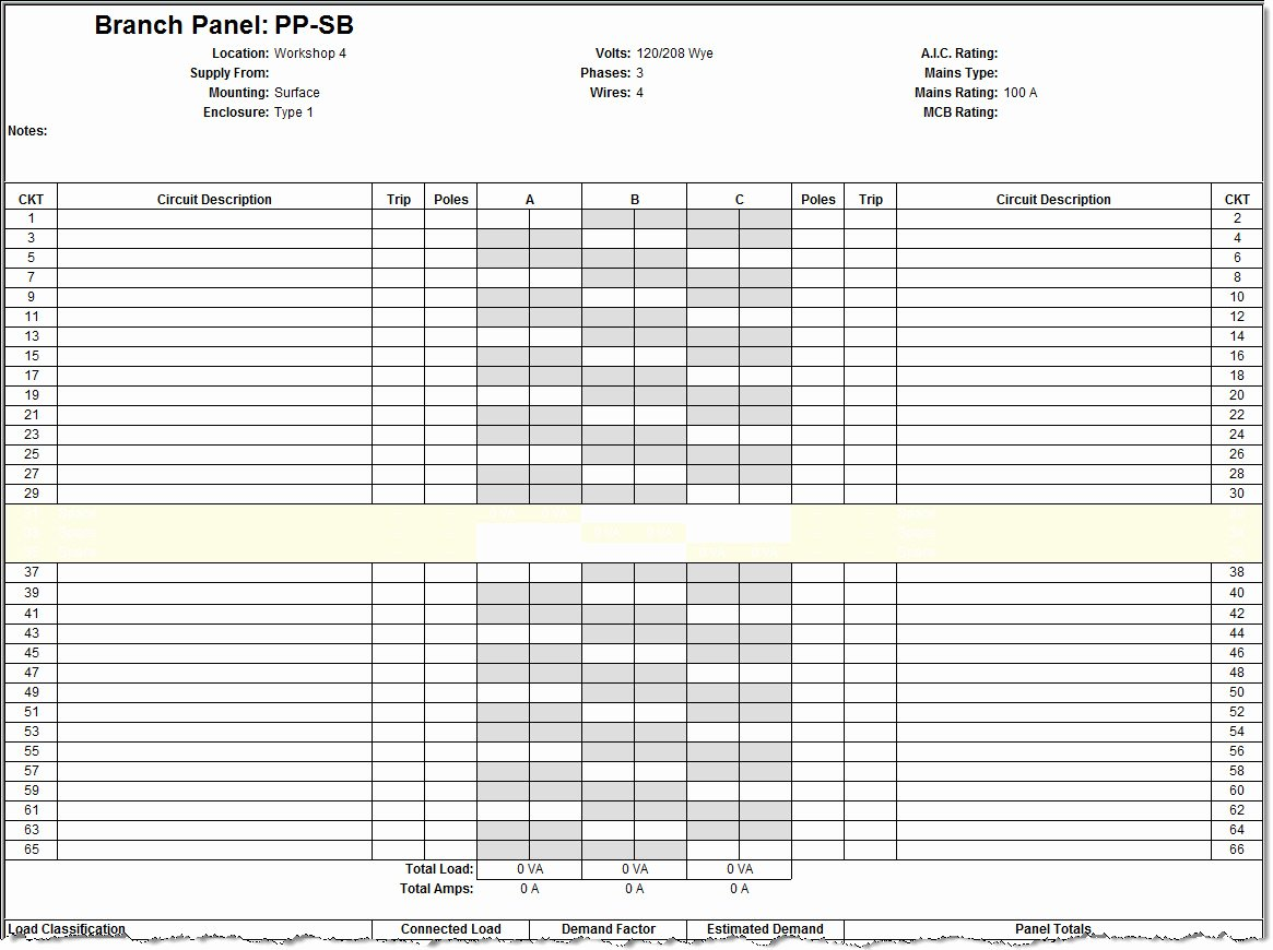 Electrical Panel Schedule Template Excel Beautiful Panel Schedules Template