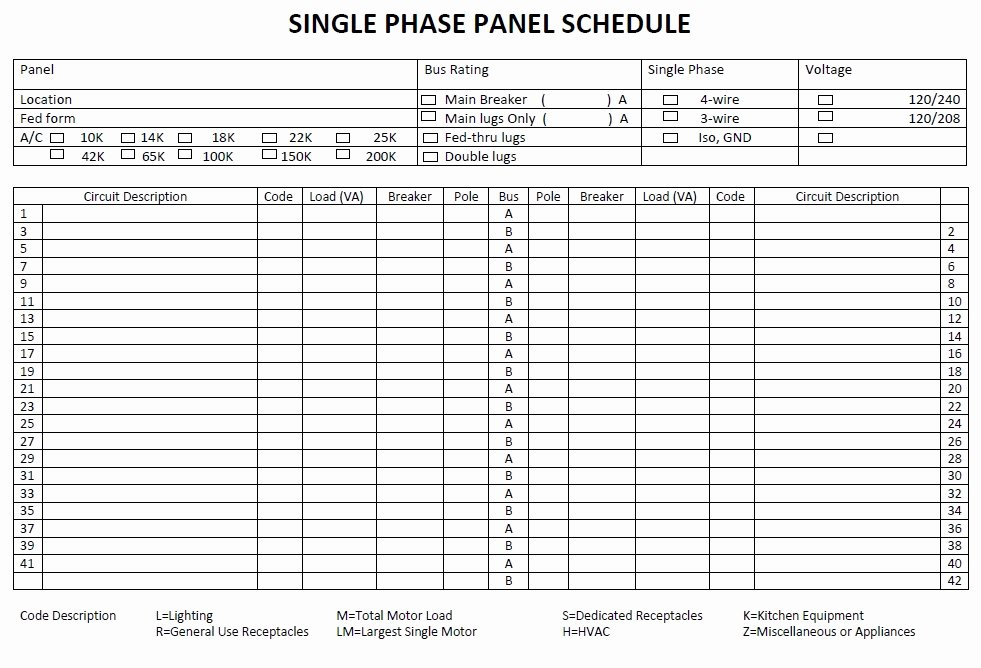 Electrical Panel Schedule Template Excel Inspirational Panel Schedule Template 5 Free Templates Schedule