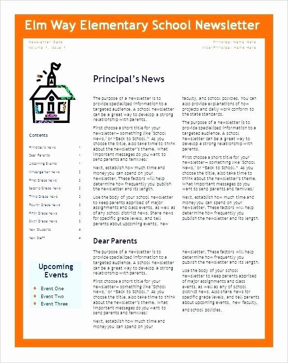 Elementary Classroom Newsletter Template Awesome 5th Grade Class Newsletter Templates Elementary School