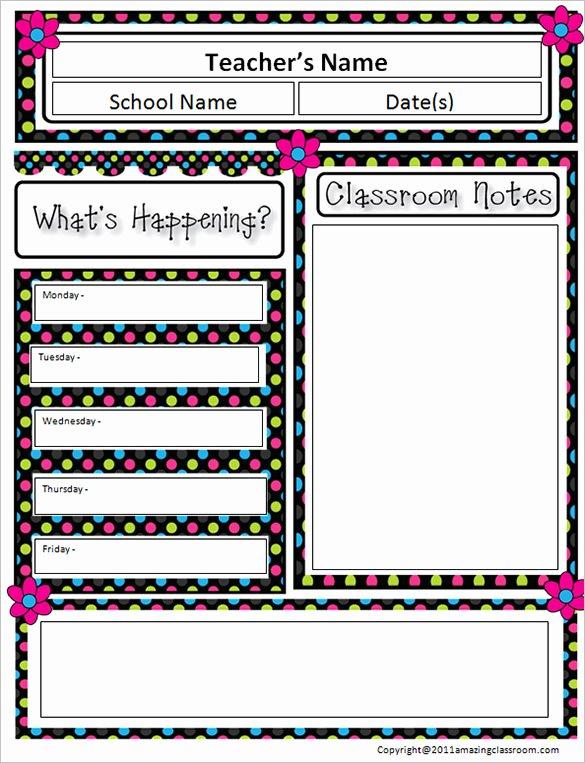 Elementary Classroom Newsletter Template Awesome 9 Awesome Classroom Newsletter Templates & Designs
