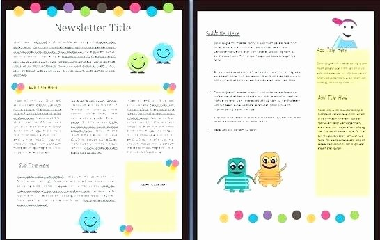 Elementary Classroom Newsletter Template Best Of Classroom Newsletter Template for Teachers Elementary Free