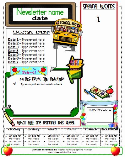 Elementary Classroom Newsletter Template Elegant Ginger Snaps Newsletter Template