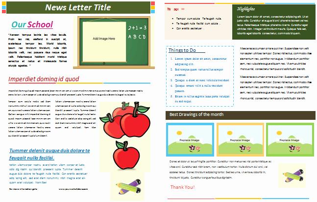 Elementary Classroom Newsletter Template Elegant School Newsletter Templates