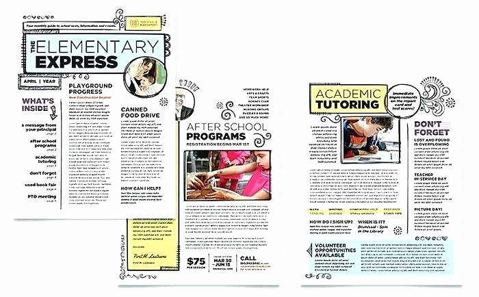 Elementary Classroom Newsletter Template Fresh Elementary Classroom Newsletter Template