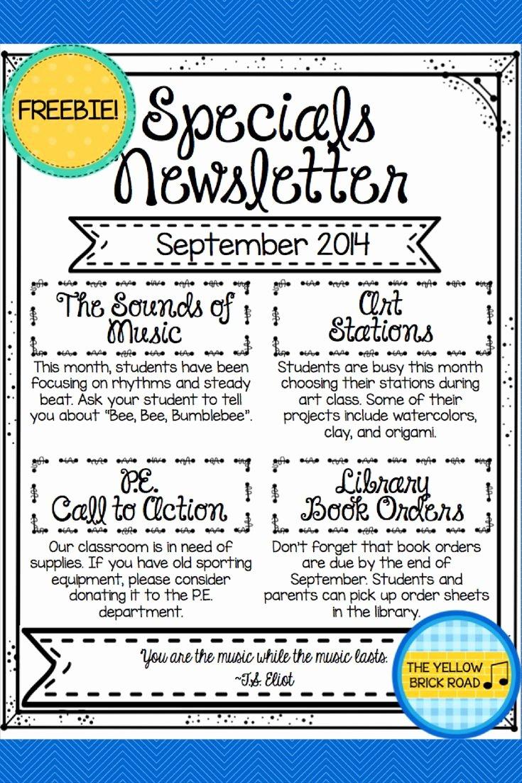 Elementary Classroom Newsletter Template Lovely 1000 Ideas About Teacher Newsletter On Pinterest