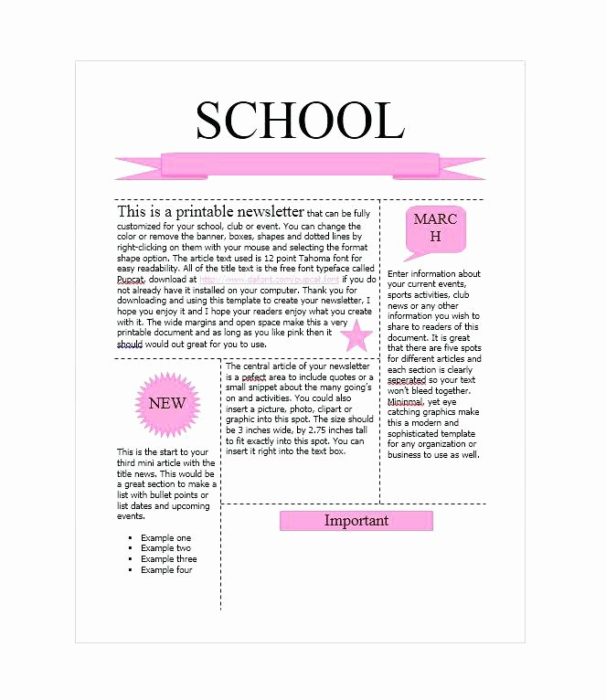 Elementary Classroom Newsletter Template Luxury 9 Monthly Newsletter Templates Free Sample Example format