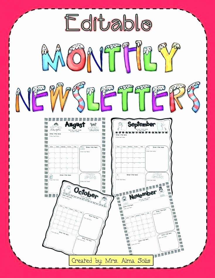 Elementary Classroom Newsletter Template New Free Editable Teacher Newsletter Template by Elementary