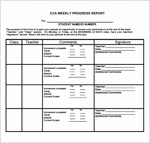 Elementary Progress Report Template Awesome Elementary Progress Report Template – Flybymedia