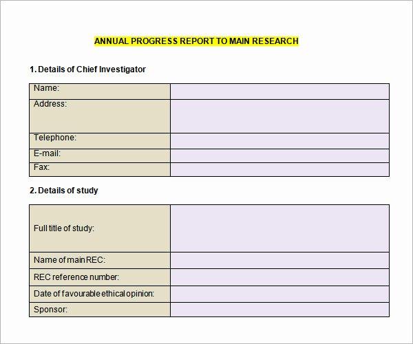 Elementary Progress Report Template Best Of 12 Sample Progress Report Templates – Pdf Word Portable
