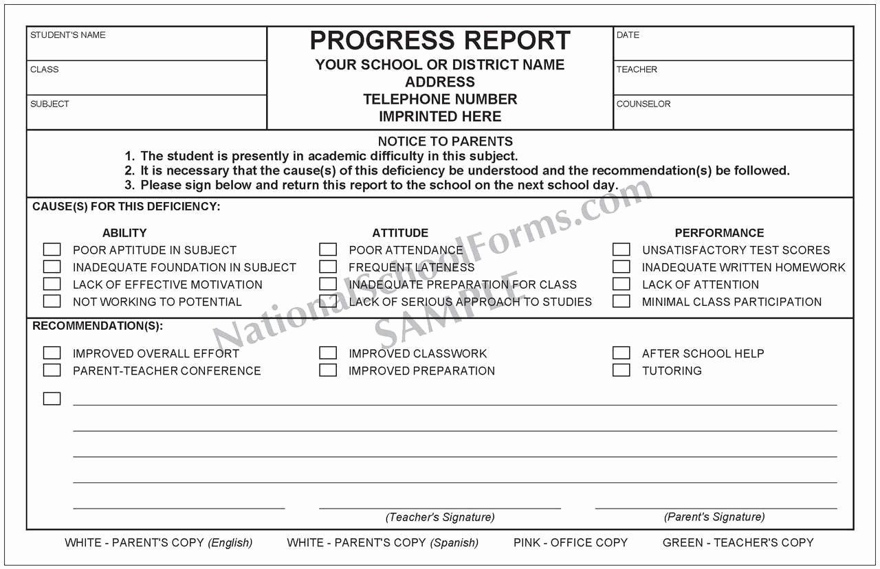 Elementary Progress Report Template Elegant Bilingual Progress Report English Spanish